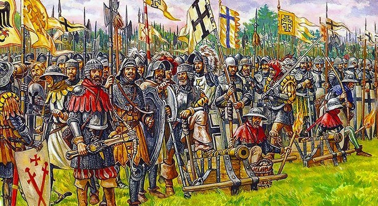 """The Battle of Grunwald, First Battle of Tannenberg or Battle of Žalgiris, 15…"