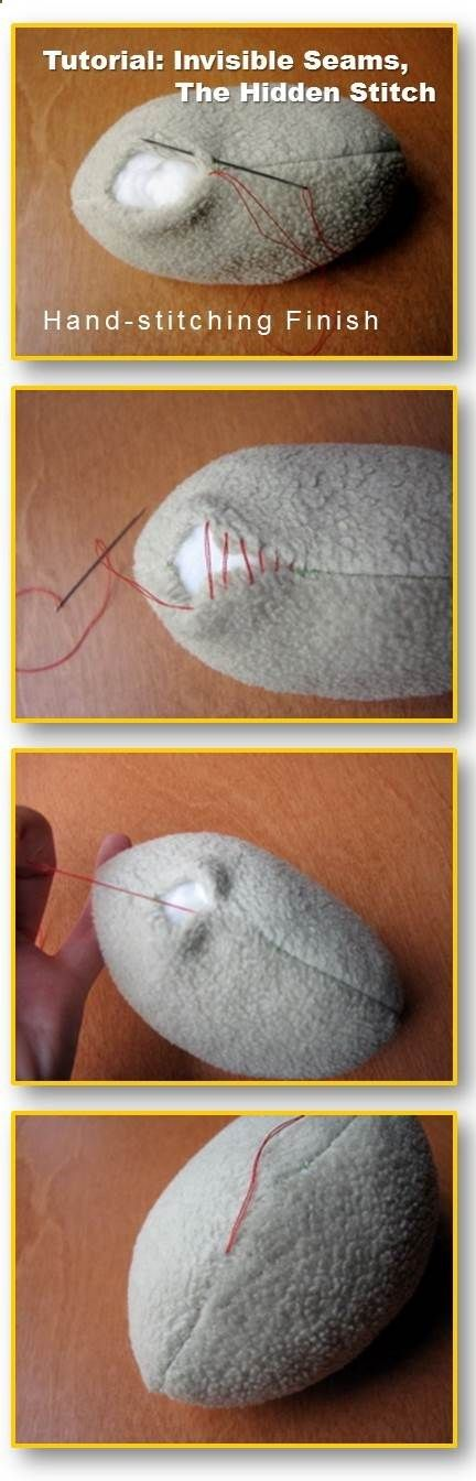 Tutorial: Invisible Seams, The Hidden Stitch. Finishing a hole with hand stitching
