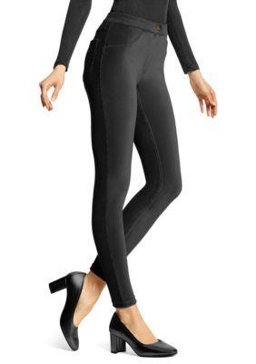 Hue Women's Plus Corduroy Leggings - Black - 3X
