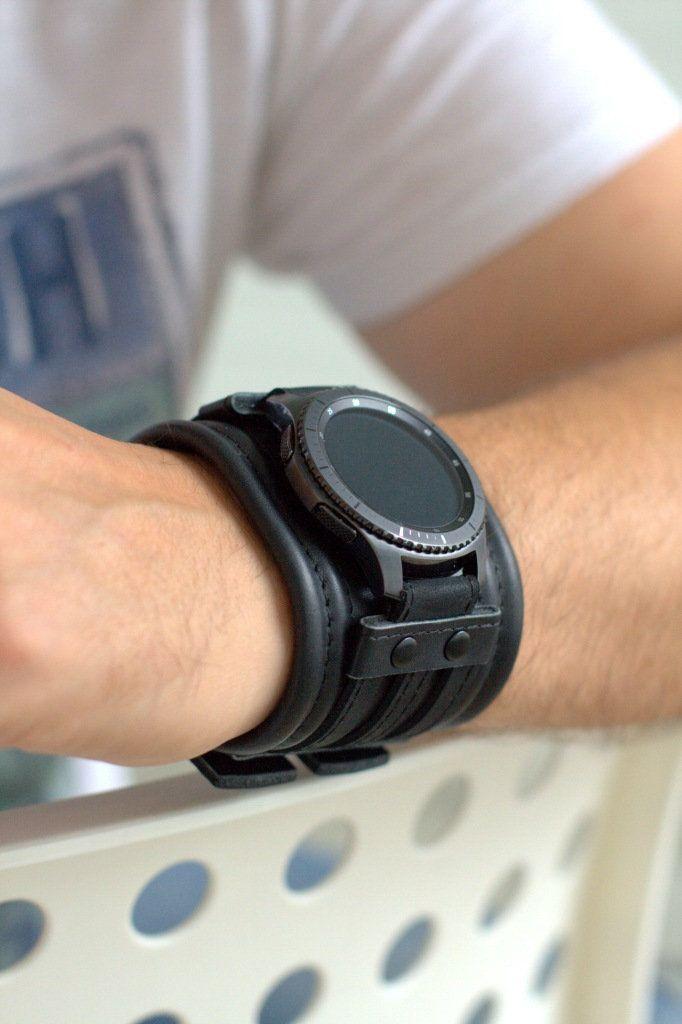 Correa De Cuero Personalizada Para Reloj Samsung Gear S3 Frontier O Classic Samsung Galaxy 46mm O 42mm Reloj De Cuero Band Correa Negra D2 0 En 2020 Relojes De Cuero Munequeras De