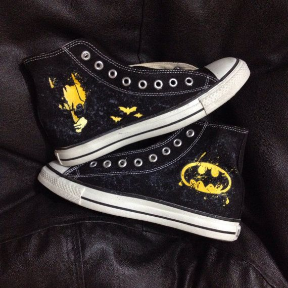 Hey, I found this really awesome Etsy listing at https://www.etsy.com/listing/230005410/new-batman-converse-shoes
