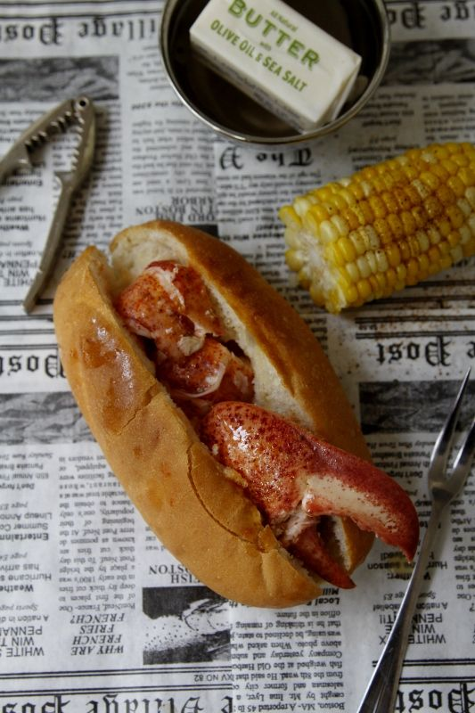 Connecticut Style Lobster Roll!  #lobster (And that's the right way to do it - hold the mayo!)