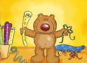 Tarjeta de cumpleaños con osito cumple_problemita - Correomagico | Mágicas postales animadas gratis
