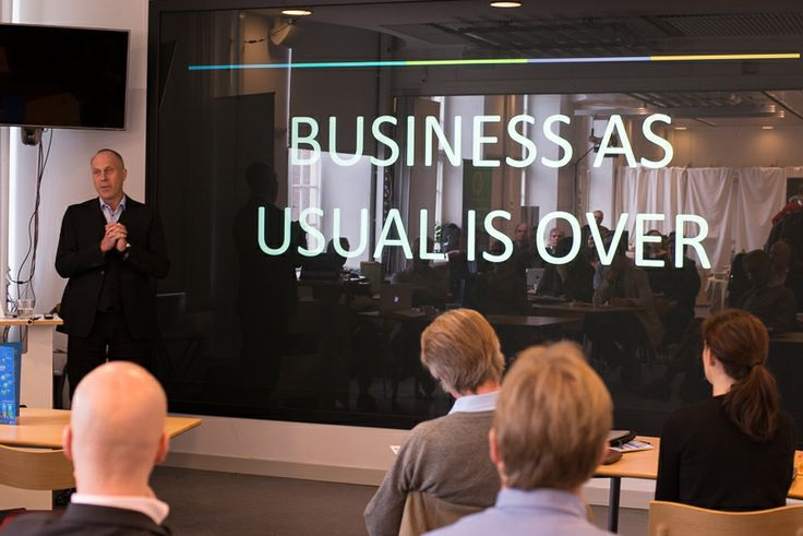 Hans Hassle, CEO, Plantagon, leaves the audience with the key message: Business As Usual is Over