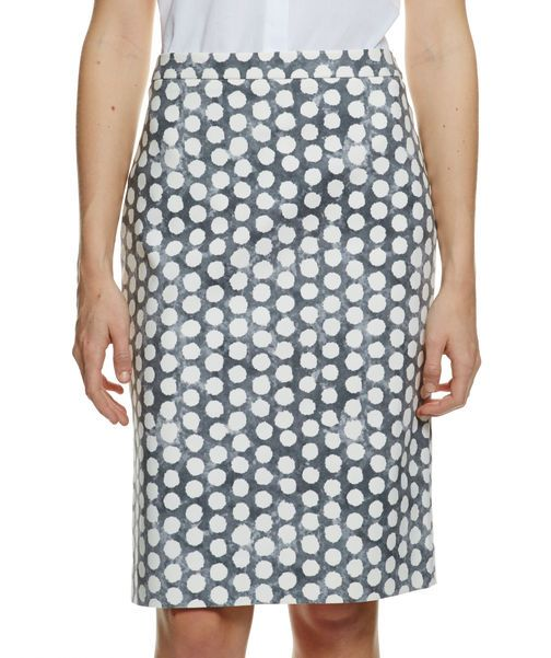 Dot print straight skirt