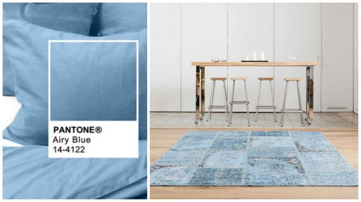 Airy Blue is the second Pantone colour of Fall 2016. It remindes of of Belinay - a warm rug can change moods. Our Belinay is just such a rug. The calming nature of Belinay makes it an ideal choice for home offices. See it here: http://www.sukhirugs.com/overdyed-belinay-patchwork-collection-1.html