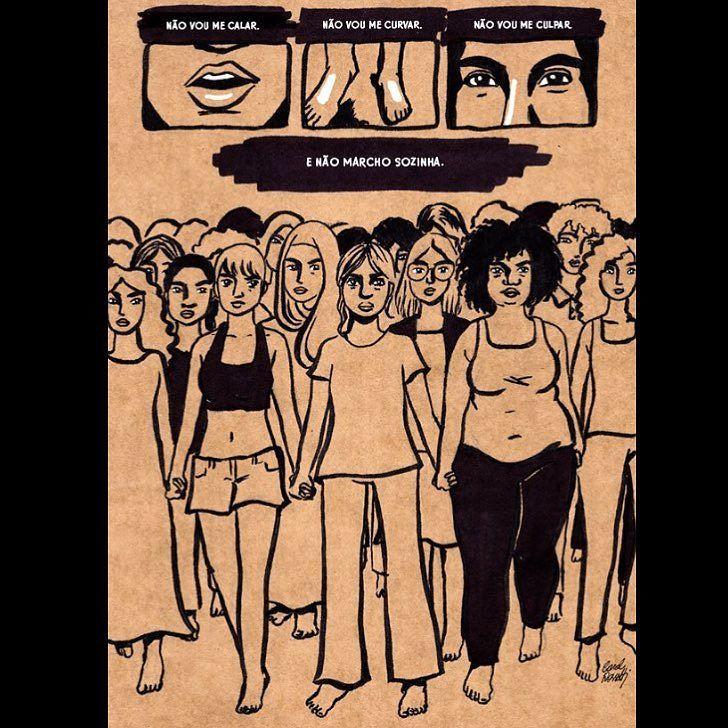By carolrossetti88: #culturadoestupro #feminismo #feminista #mulheres #luta #estupronuncamais #illustration #feministillustration