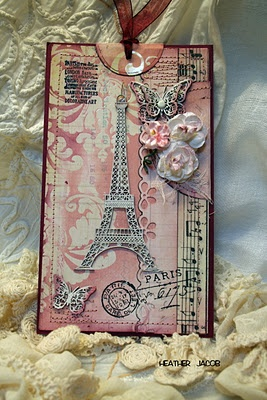 Paris theme using resist and ink. vintage style For My handmade greeting cards…