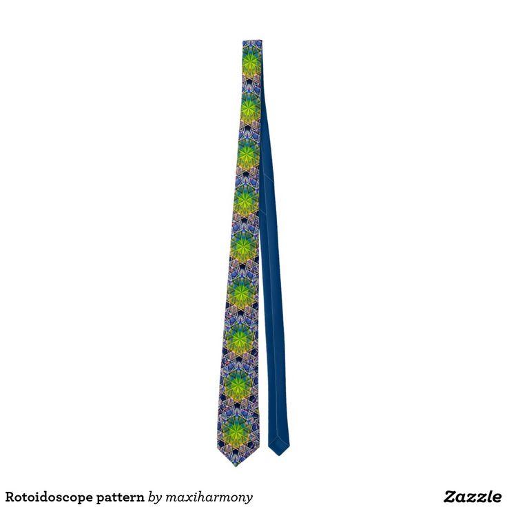 Rotoidoscope pattern tie