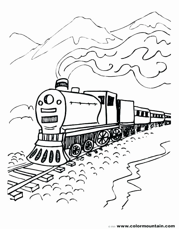 Supercoloring Train Pics