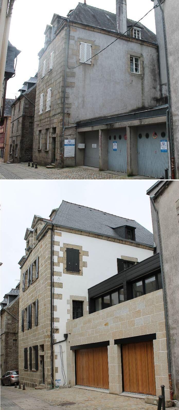 Réalisation lennon leberre joncour rénovation dune maison de ville bretonne quimper