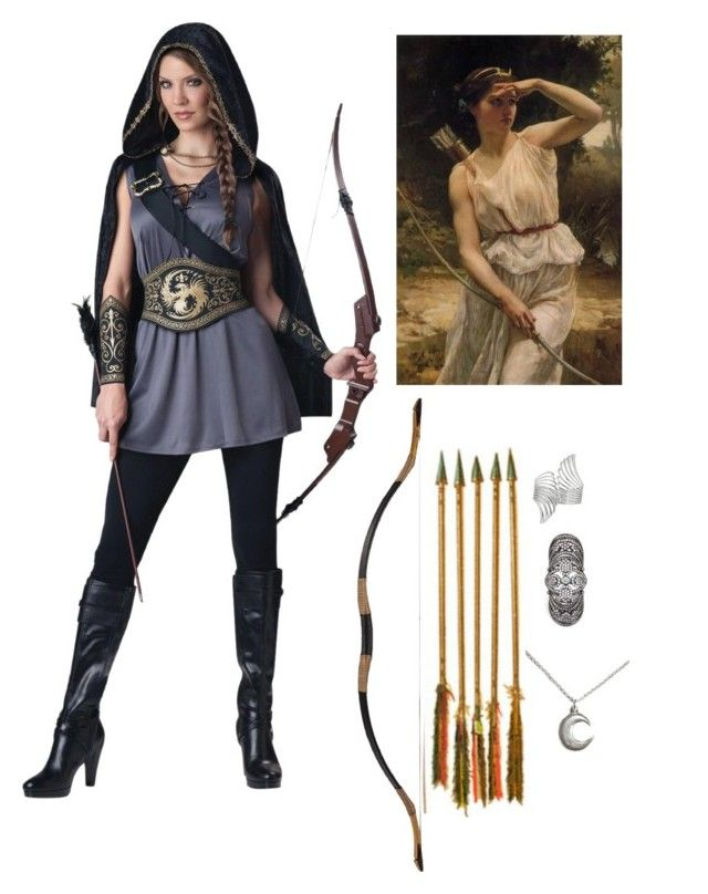"""Hunter of Artemis"" by njomeza-pema ❤ liked on Polyvore featuring Forever 21, BCBGMAXAZRIA and Bloody Mary Metal"