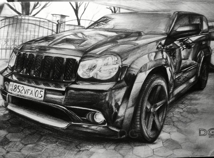 Jeep SRT8 Drawing. (by dropgraphics)