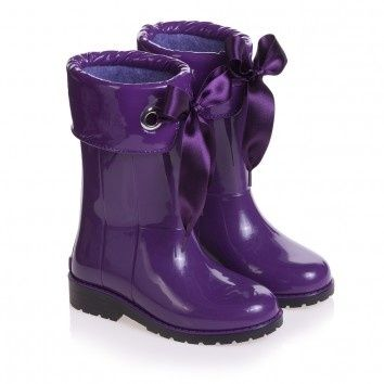 Cute purple rain boots