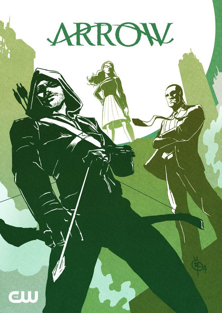 Team Arrow: Oliver Queen, John Diggle, and Felicity Smoak