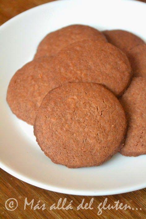 Libre de gluten Libre de lácteos Libre de azúcar Permitido en la Dieta GFCFSF Receta Vegana Galleticas sensillas de chocola...