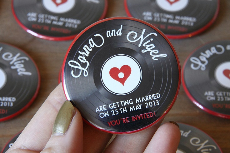 1950s VINYL RECORD design - Save the Date Magnets. £54.00, via Etsy.-these would be perfect forus