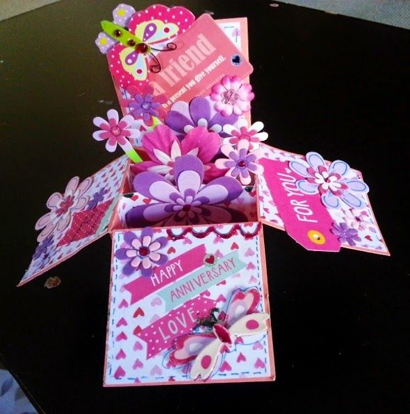 Life's little treasures: Love - Card in a box (Spring in a box!)