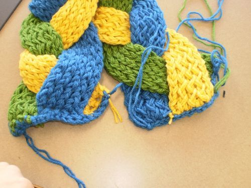 Straight Knitting Loom Scarf Pattern : Craft-orial: Knifty Knitter Braided Scarf Tejidos en telar Pinterest Ea...