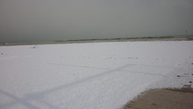 interfaccia terra-mare... più neve
