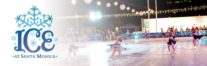 Downtown Santa Monica brings a little ice skating to the beachside community!
