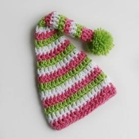 Elf Beanie Knitting Pattern : PATTERN   Crocheted Custom Elf Pixie Gnome Beanie Hat ...
