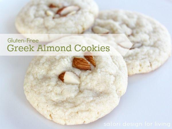 Greek Almond Shortbread Cookies {Gluten Free}