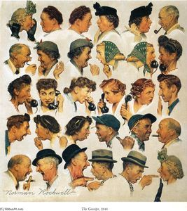 Les commères - (Norman Rockwell)