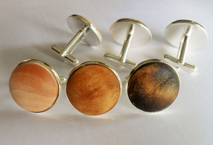 These silver plated cufflinks are perfect for a rustic or country wedding theme. They are 20mm (3