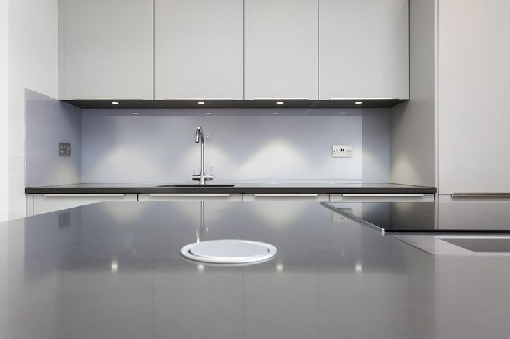 Kitchen pop up sockets in worktop
