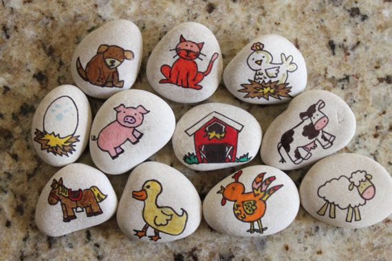 Story Stones: Farm Life Edition by SprigsToSprouts on Etsy