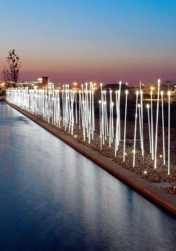 Outdoor bollard light for public spaces (LED) TYPHA : ADT3 by Susana Jelen-Eduardo Leira iGuzzini