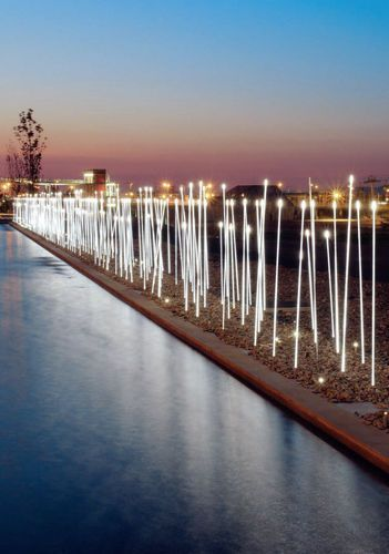 Outdoor bollard light for public spaces (LED) TYPHA : ADT3 by Susana Jelen-Eduardo Leira iGuzzini