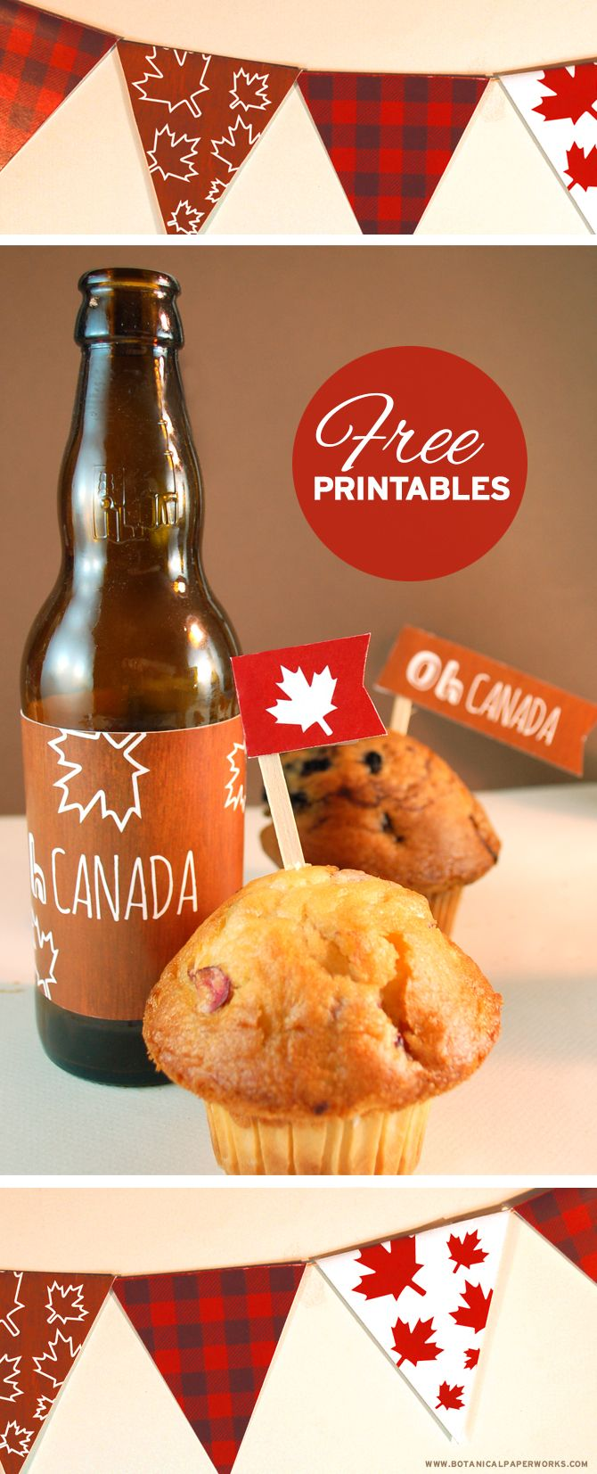 Get into the Canadian spirit this July 1st and plan a party to honour our great country with this FREE printable party pack.