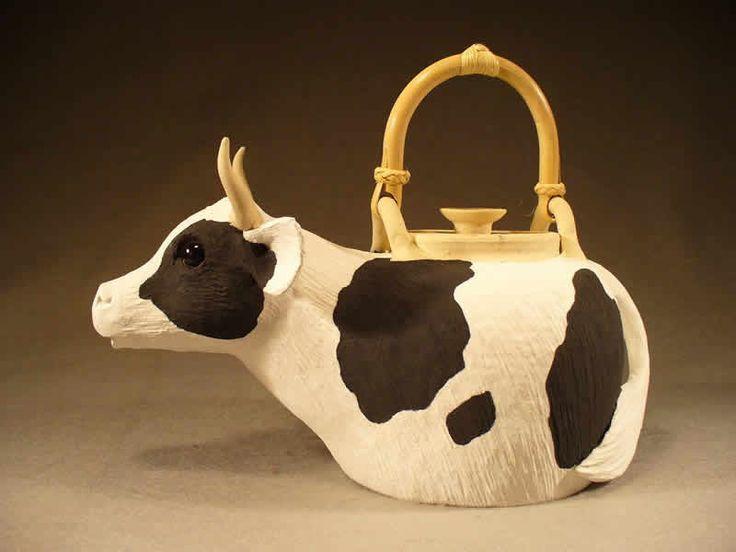 Animal Teapots | Cow Teapot (painted)