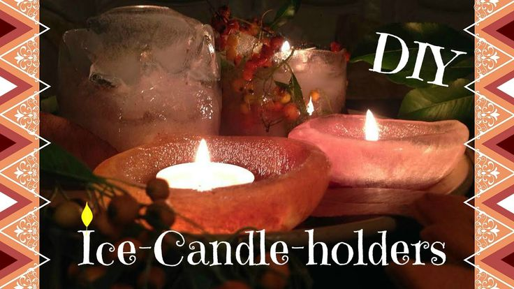 ✦ Autumn DIY: Ice-candle-holders | Room Decor ✦
