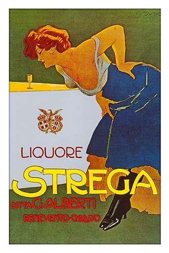 A Classic Strega liqueur ad