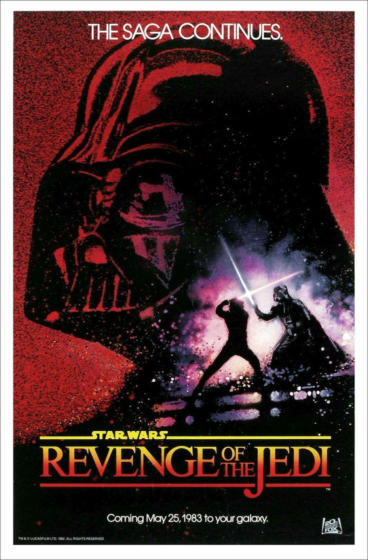 Revenge of the jedi no date printers proof star wars original movie poster