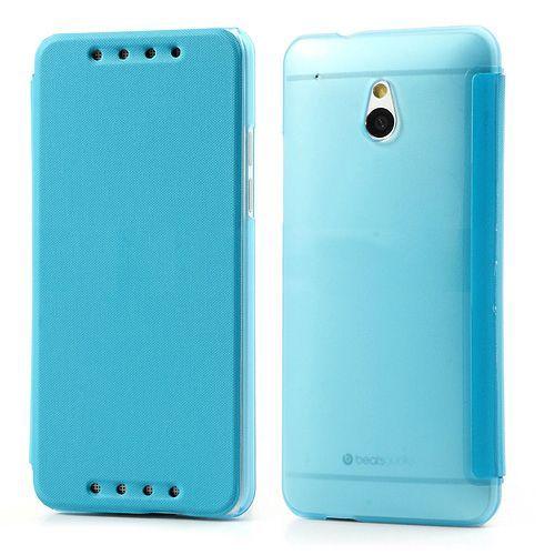 Blauw compact sideflip hoesje voor de HTC One mini