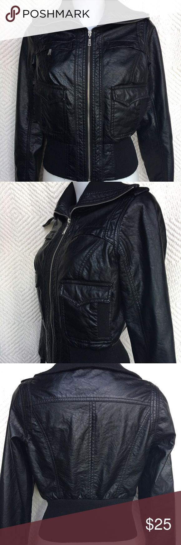 Black bomber jacket Women's size medium black bomber jacket Jackets & Coats