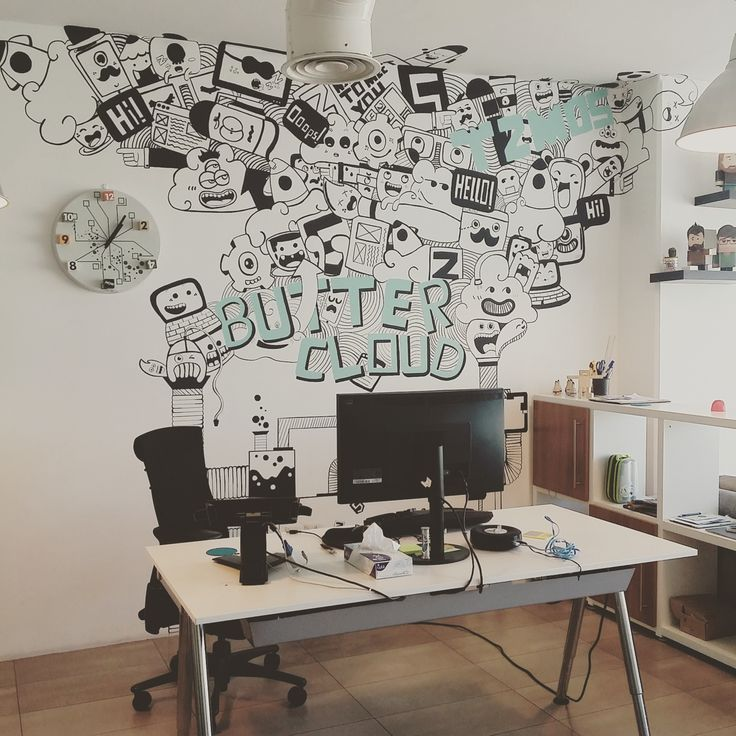 And the best #startupspot of all, The Buttercloud office! #design #interiordesign #office #workinghard #wall #mural #graffitiart #amman #jordan