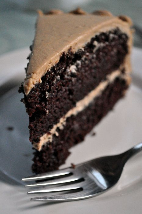 vegan chocolate cake coffee buttercream - I would probably use coconut oil and coconut flour instead