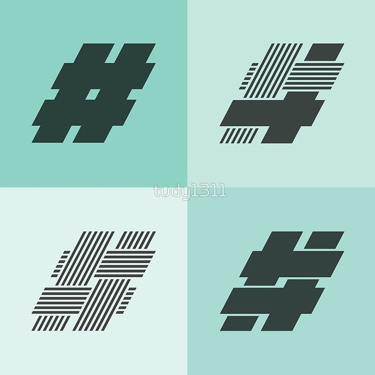 Hashtags  Whilst working on my new font, Hipstravaganza, I got to make some versions of the hashtags. I found them so nice, that I made this thing. Available in all sort of print versions on Redbubble.  #hashtag #typography #fonts #pattern #hipster #hashtags #blue #glyph #type design
