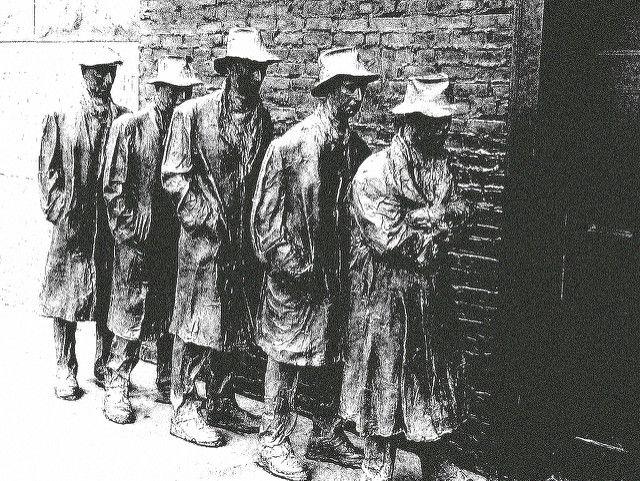 Depression-era Farmers | Depression Era Bread Line at FDR Memorial by D.F. Shapinsky (pingnews ...