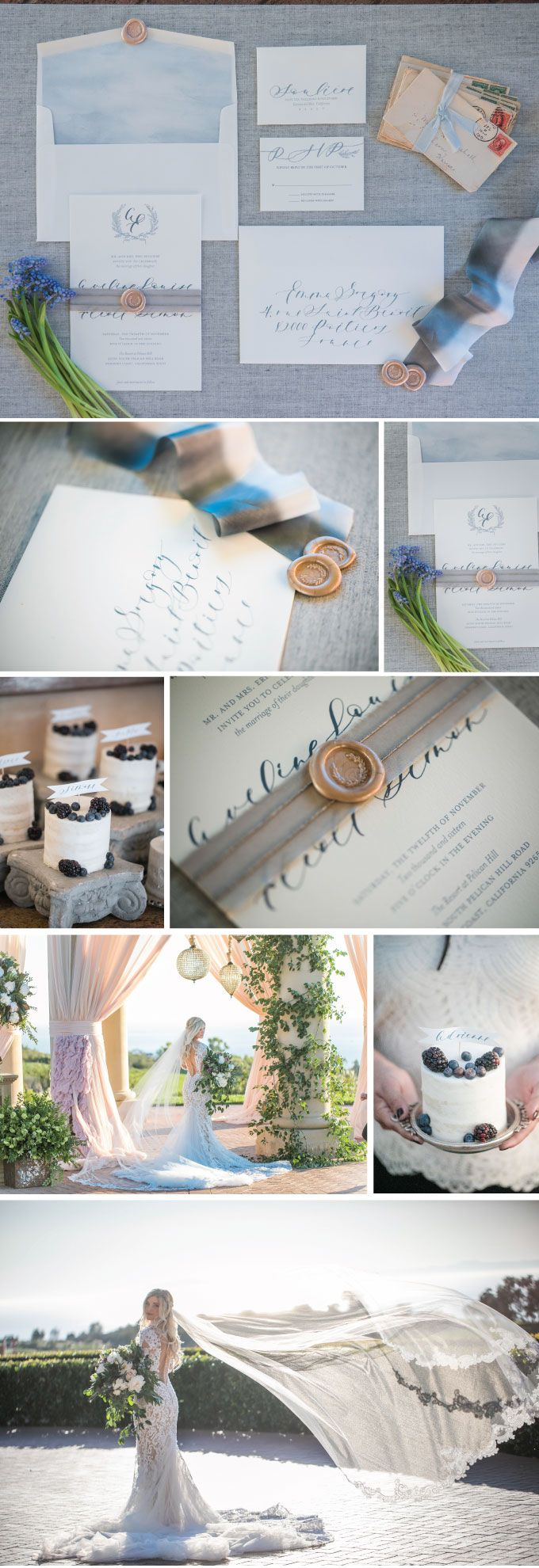 Paris by the Beach inspired wedding | Invitations by Wiley Valentine