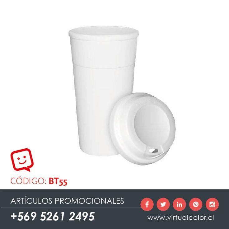 Artículos Promocionales - Productos Publicitarios - Vaso Blanco Cloud 480cc