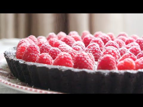 No Oven Double Chocolate Raspberry Tart! - YouTube