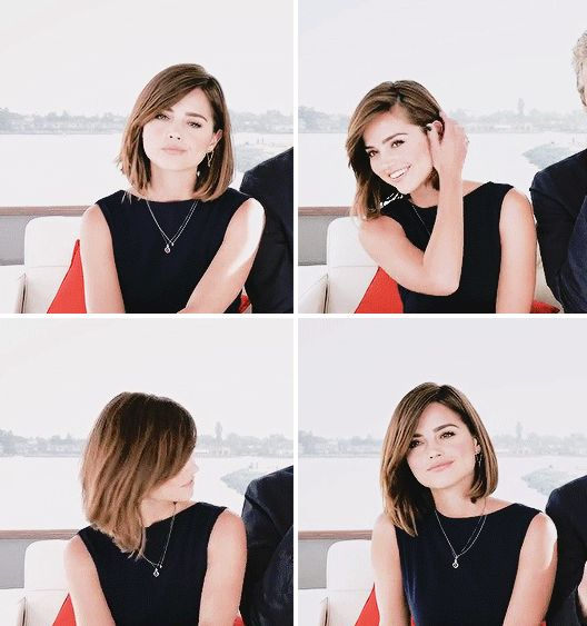 Jenna Coleman Hair at Comic Con