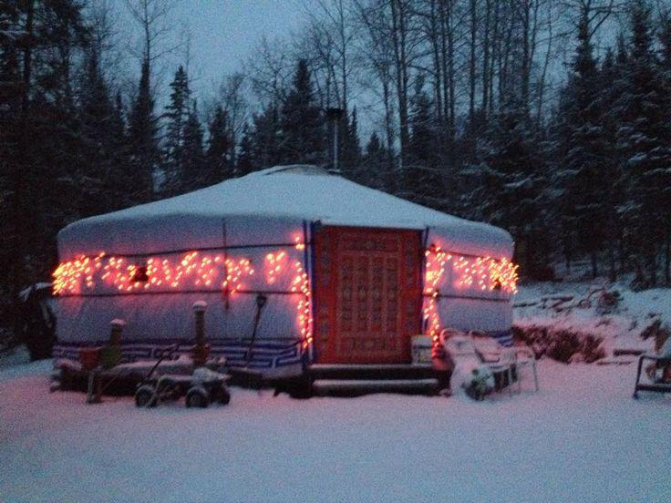Christmas Yurt Holiday Yurt Yurt with lights
