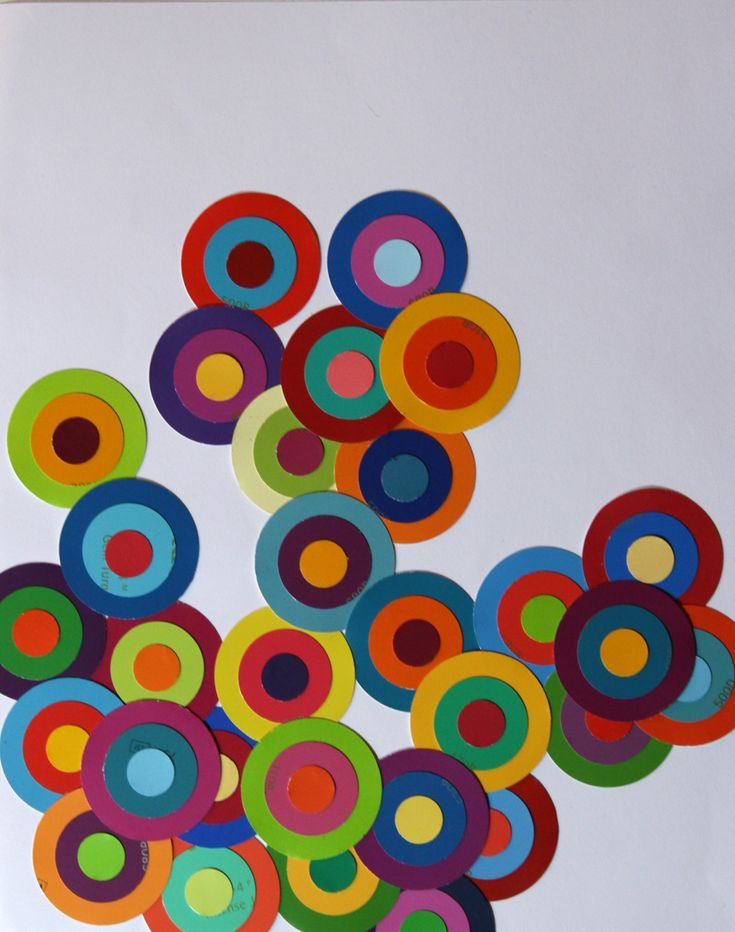 Paint Chip ArtWall Art, Painting Samples, Ideas, Projects, Paint Chips, Paint Chip Art, Painting Chips Art, Crafts, Chips Circles